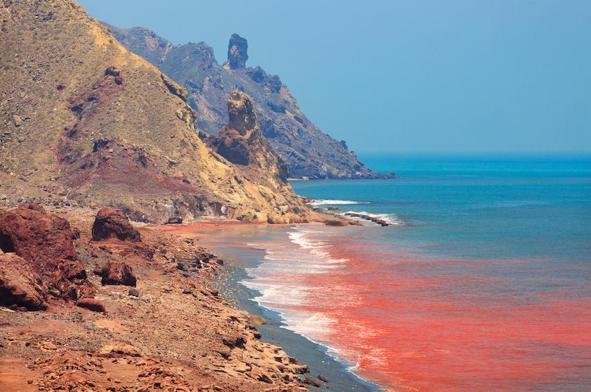 Red Beach Hormuz; Hormuz Beach, Roter Strand